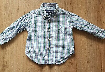 ralph lauren baby boy long sleeve shirt age 12 months