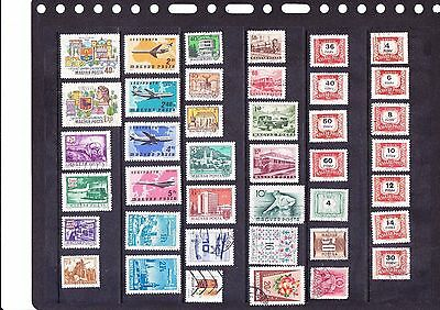 Hungary stamps page of 40 different