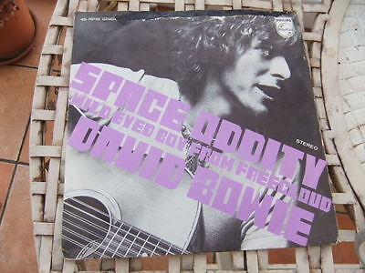 A rare picture sleeve David Bowie single Space Oddity single
