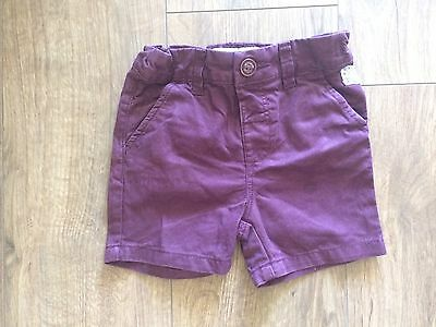 Gorgeous Boys Burgundy Next Shorts 12-18 Months