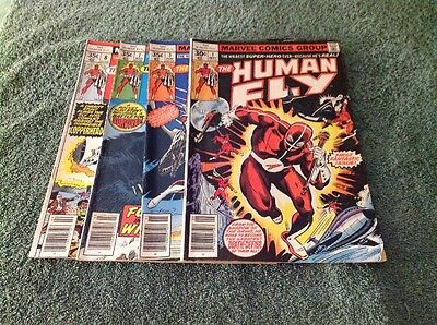 Marvel Comics The Human Fly  Lot of 4 - 1,3,7,8 - 1977 - est. FMV $10