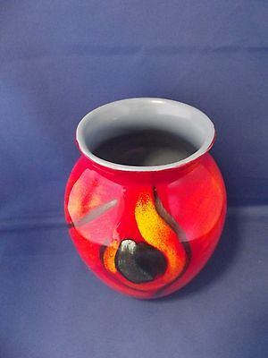 Beautiful Red Poole Pottery Vase
