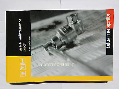 Aprilia Sportcity One 50 4T Owners Manual Users Handbook 2008-On 854051