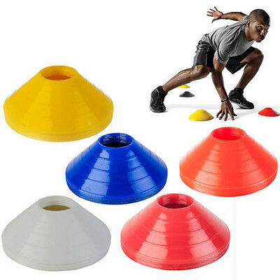 10x Football Rugby Sport Cross Training Space Marker Soccer Cone Saucer WH