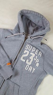 Superdry Japan Spirit Womens Hoodie Hooded Jumper Top With Pockets Size M-L Grey