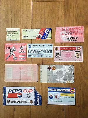 TICKET 1989/90 Benfica v Marseille European Cup