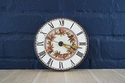Vintage Retro 1970S Hand Painted Round Jersey Pottery Wall Clock-Fully Working