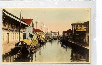 (Ga8477-477) Junks in Harbour Canal Port, Japan c1910 VG-EX