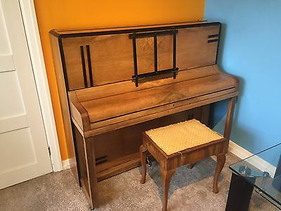 Roland Bros Upright Piano with stool