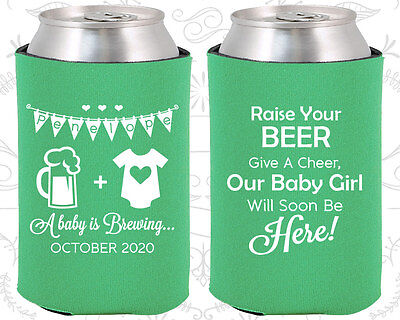 Baby Shower Koozies Koozie Favors 90065 A Baby Girl Is Brewing