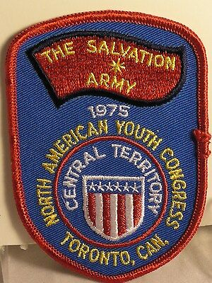 Salvation Army - CLOTH PATCH - NORTH AMERICAN YOUTH CONGRESS 1975 - TORONTO