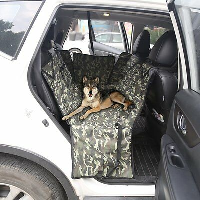 AonePro Car Bench Seat Cover With Car Door Protection Waterproof for Dogs Pets A