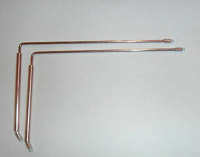 Pair of Divining Rods - Dowsing Rods with copper handles swivelling rods