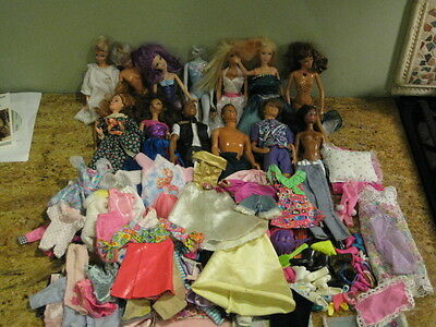 Vintage Barbie Doll Lot Rare Clothes Shoes Accessories Dresses furniture Early