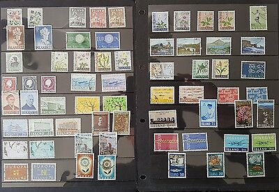 65 stamps making up 30 complete sets of 1957-71 Iceland stamps