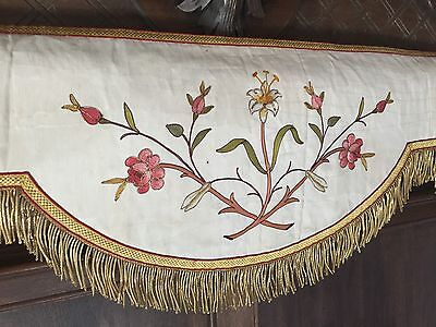 Wonderful Antique French Antependium Altar Tabernacle Gold Curtain Drapes