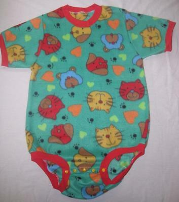 "Adult ABDL 38""  Fun Fleece Bodysuit Onesuit, by LL"