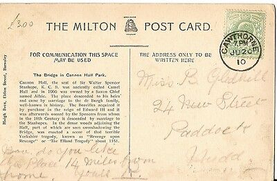 1910 card with thimble postmark Cawthorne 20 Jun