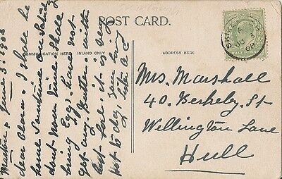 1908 card with thimble postmark Skirlaugh code A 3 Jun