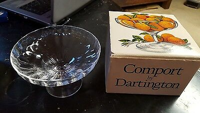 Vintage Lead Crystal Comport Dartington Glass Frank Thrower 1982 FT316 in box