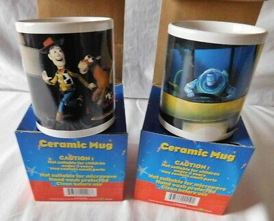 Toy Story 2 - 2 New Ceramic Mugs Boxed