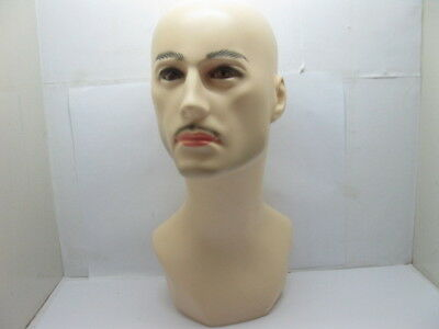 1X New Male Bald Head Torso Mannequin 39cm High