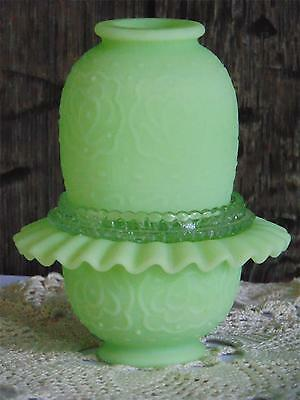 Fenton 3 Piece Custard Satin Medallion Fairy Light Fairy Lamp - Logo