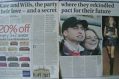KATE MIDDLETON / PRINCE WILLIAM - newspaper clipping / cutting from 2007