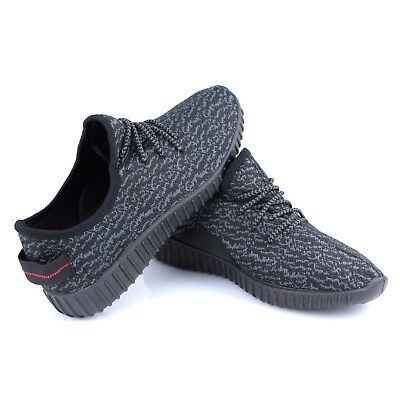 KY-1 Kids Girls Boys Black Sneakers Running Sports Casual Shoes Size 10.5-2