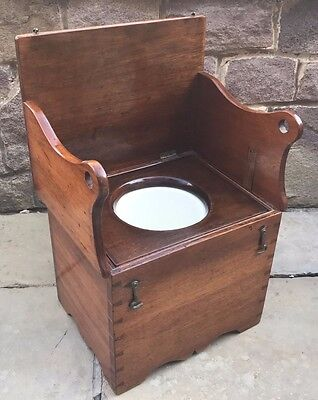 Victorian Mahogany Campaign Style Child's Commode, Victorian - Doll/teddy Bear