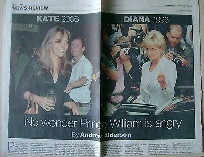 KATE MIDDLETON / PRINCESS DIANA / PRINCE WILLIAM - newspaper clipping from 2007