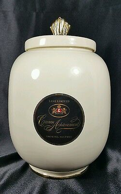 """Lane Limited Crown Achievement pipe smoking mixture Jar canister humidor 11 1/2"""""""