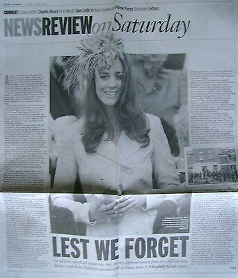 KATE MIDDLETON / PRINCESS DIANA - newspaper clipping / cutting from 2007