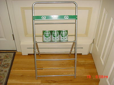 Quaker State Oil Can Rack Sign Excellent Condition