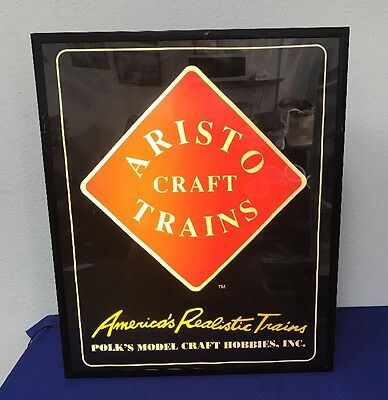 Aristocraft Trains Lighted Sign By Luminaire Polk's Model Craft Hobbies (A9)