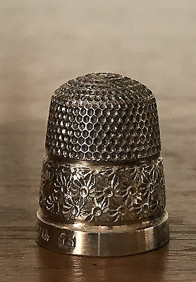 Antique Sterling Silver Thimble Birmingham 1925 Halmark Henry Griffith & Son 15