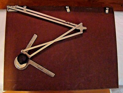 "VTG 1937 Dietzgen Portable Drafting Drawing Table Board w/ Arm Machine 20"" x 15"""