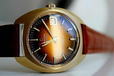 Certina DS-2 Automatic Gold 20M *NOS, Bronze-Brown dial, 1975!*