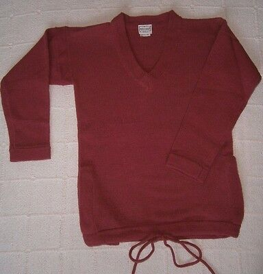 Vintage V-Neck Sweater  - 10-11 Years - Raspberry Pink-2 Pockets - New.