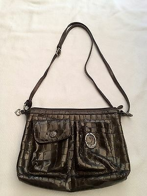 Brighton Purse Cher Small Crossbody Shoulder Bag  Embss Patent Leather