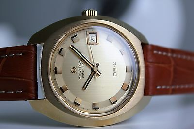 CERTINA DS-2 Automatic 20M Gold *NOS, 1970,  fantastic dial!*