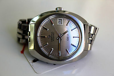 Certina DS-2  Automatic *SILVER perfect dial, 1972!*