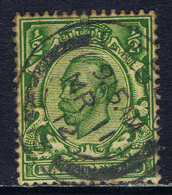 Great Britain #153(9) 1912 1/2 pence green King George V Used CV$4.50