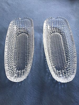 Two Lead Crystal Dartington Sweetcorn Dishes