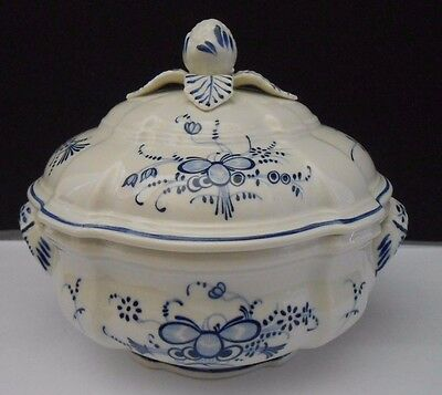 Villeroy & Boch Vieux Septfontaines Candy Box With Lid Luxembourg Blue White