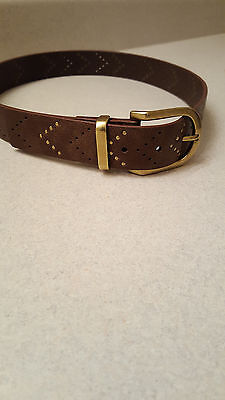 Womens Style & Co Belt Size Small NWT Brown w/ Gold tone accents