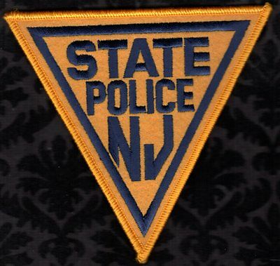 New Jersey State Police Shoulder Patch Felt Texture FREE USA SHIPPING