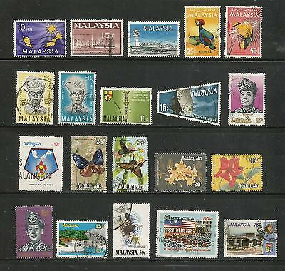 Malaysia – 1963-1990– Collection Of 34 Different – Used