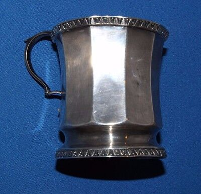 "Antique American Coin Silver Child's Cup ""Josephine"" Christening Birth Gift"