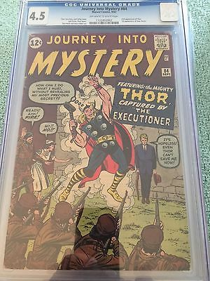 Journey Into Mystery #84 Cgc 3.5 Vg 2Nd Appearance Thor 1St Jane Foster Marvel